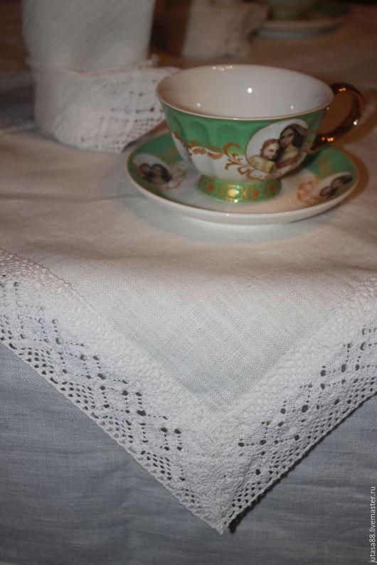 Текстиль, ковры ручной работы. Ярмарка Мастеров - ручная работа. Купить Скатерть и салфетки. Handmade. Белый, салфетки, лён