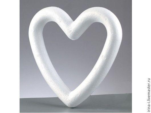 """Другие виды рукоделия ручной работы. Ярмарка Мастеров - ручная работа. Купить Сердце """"Рамка""""  из пенопласта  11 см, 13,5 см, 18,5 см. Handmade."""