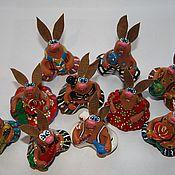 Куклы и игрушки ручной работы. Ярмарка Мастеров - ручная работа Зайцы - Кролики. Handmade.
