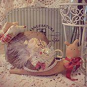 Куклы и игрушки ручной работы. Ярмарка Мастеров - ручная работа Улитка Тильда. В стиле Шебби 2. Handmade.