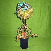 Цветы и флористика ручной работы. Ярмарка Мастеров - ручная работа Топиарий из шишек туи. Handmade.