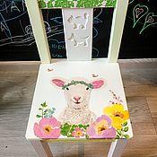 Стулья ручной работы. Ярмарка Мастеров - ручная работа Детский деревянный декорированный стул. Handmade.
