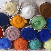 Материалы для творчества handmade. Livemaster - original item Cardoons new Zealand wool for felting 100g Latvia. Handmade.