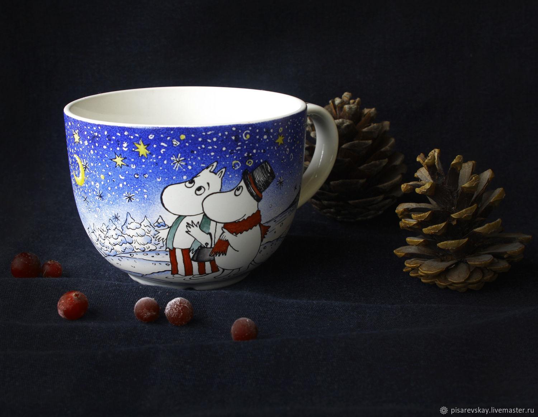 Кружка большая Муми-тролли - Морра - Волшебная зима, Кружки, Санкт-Петербург,  Фото №1