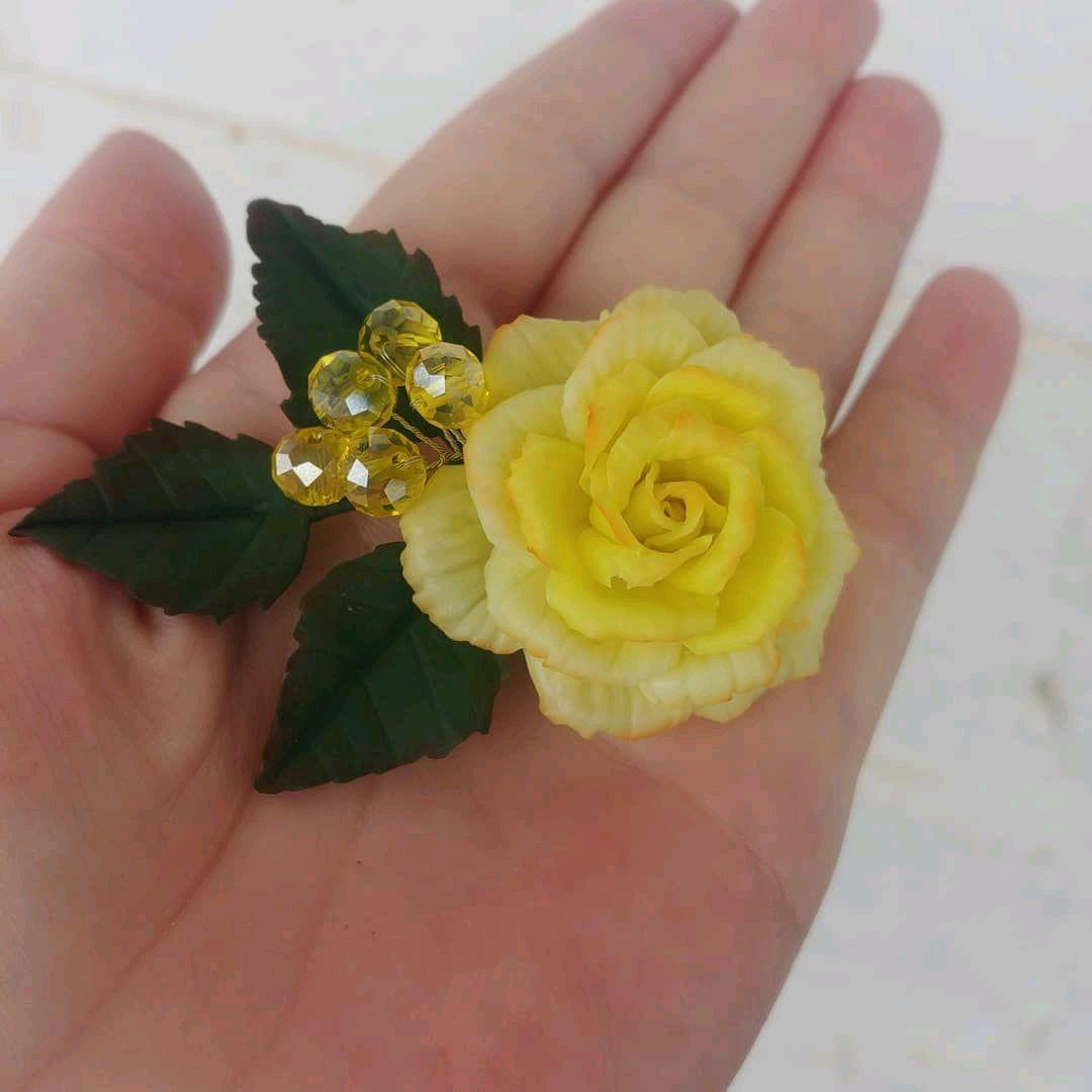 Брошь Роза, Брошь-булавка, Актау,  Фото №1
