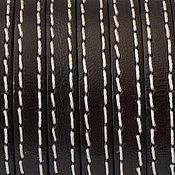 Материалы для творчества ручной работы. Ярмарка Мастеров - ручная работа Кожаный шнур плоский  5 мм с прострочкой, разные цвета. Handmade.