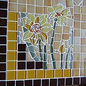"""Для дома и интерьера ручной работы. Ярмарка Мастеров - ручная работа Стол обеденный """"Нарциссы"""", мозаика. Handmade."""