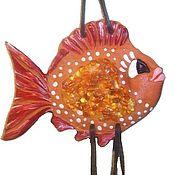 Подвески ручной работы. Ярмарка Мастеров - ручная работа Рыба панно керамика на стену подарок сувенир морская тема. Handmade.