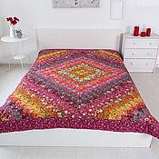 Для дома и интерьера handmade. Livemaster - original item Red patchwork bedspread 165x215sm. Handmade.