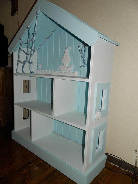 """Детская ручной работы. Ярмарка Мастеров - ручная работа. Купить Стеллаж """"Морской бриз"""". Handmade. Голубой, для детей, домик для кукол"""