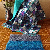 Для дома и интерьера handmade. Livemaster - original item Patchwork quilt By the fireplace. Handmade.
