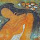 Люди, ручной работы. Картина Купальщица выполненная на хб ткани в технике горячего батика. Мария. Интернет-магазин Ярмарка Мастеров.