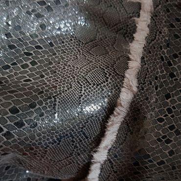 Материалы для творчества ручной работы. Ярмарка Мастеров - ручная работа Дубленка искусственная с лазерным покрытием, Италия. Handmade.