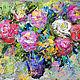 """Картины цветов ручной работы. Ярмарка Мастеров - ручная работа. Купить Картина """"Букет Роз в Стиле Прованс"""" картина с цветами. Handmade."""