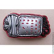 Украшения handmade. Livemaster - original item Hair pin red-gray-black. Handmade.