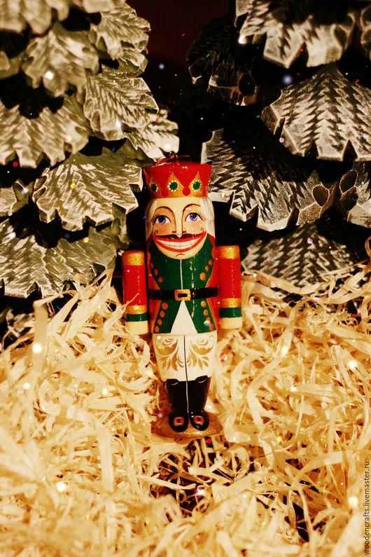 """Новый год 2017 ручной работы. Ярмарка Мастеров - ручная работа. Купить Елочная игрушка """"Щелкунчик"""". Handmade. Комбинированный, новогодняя игрушка"""