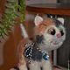 Игрушки животные, ручной работы. Ярмарка Мастеров - ручная работа. Купить Моника. Handmade. Разноцветный, трехцветная кошка
