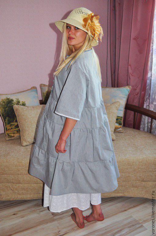 Платья ручной работы. Ярмарка Мастеров - ручная работа. Купить Комплект в бохо стиле(платье+юбка). Handmade. Серый, шитье