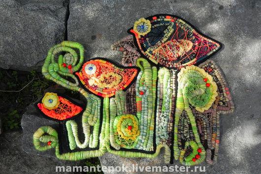 Животные ручной работы. Ярмарка Мастеров - ручная работа. Купить Птичье семейство. Handmade. Декоративное панно, декор интерьера, пряжа