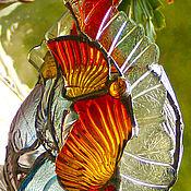 Для дома и интерьера ручной работы. Ярмарка Мастеров - ручная работа Витражный светильник в стиле тиффани-факел.,в ковку.. Handmade.