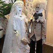 Куклы Тильда ручной работы. Ярмарка Мастеров - ручная работа Куклы Тильда Свадебные текстильные куклы. Handmade.