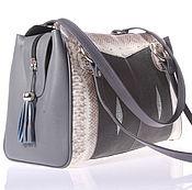 Сумки и аксессуары handmade. Livemaster - original item Bag women`s leather Cobra and Stingray IMCP0502e. Handmade.