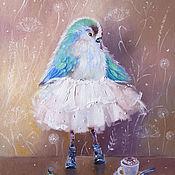 Картины и панно ручной работы. Ярмарка Мастеров - ручная работа Пернатый балет - картина маслом. Handmade.