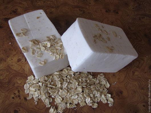"""Мыло ручной работы. Ярмарка Мастеров - ручная работа. Купить Взбитое мыло для умывания """"молоко,овсянка,мед"""". Handmade."""