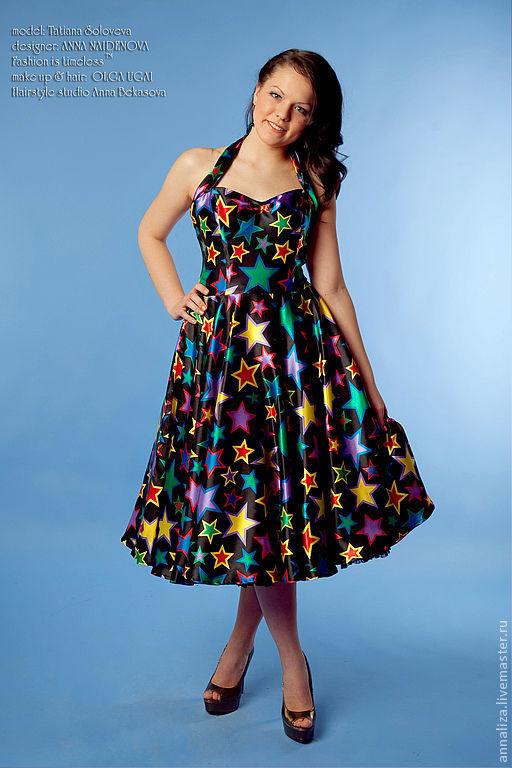 """Платья ручной работы. Ярмарка Мастеров - ручная работа. Купить Ретро платье """"Starlet"""". Handmade. Платье 50-х, стиляги"""