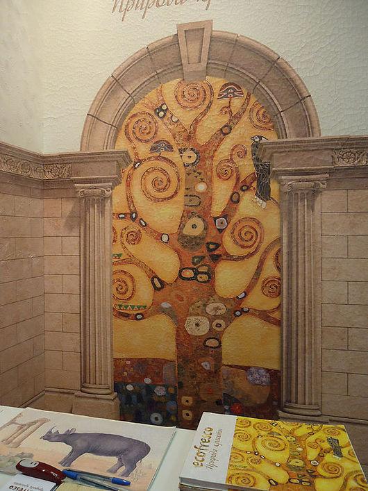 Стенд оформлен на полотнах фаянс.Уникальное покрытие для цифровой фрески.