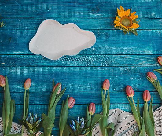 Тарелки ручной работы. Ярмарка Мастеров - ручная работа. Купить Переменная облачность. Handmade. Белый, фарфор, фарфоровая тарелка, фарфор