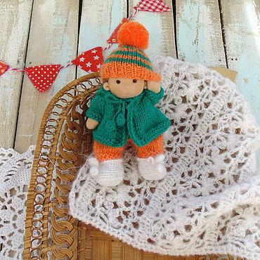 Куклы и игрушки ручной работы. Ярмарка Мастеров - ручная работа Малышка 14 см Вальдорфская кукла. Handmade.