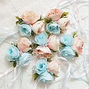 Свадебный салон ручной работы. Ярмарка Мастеров - ручная работа Браслет подружки невесты -свадьба в голубом. Handmade.