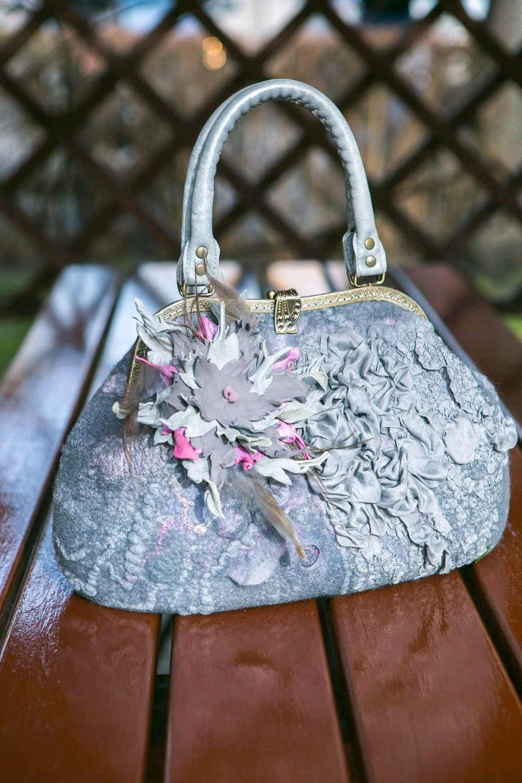 """Сумка """"Розовый туман-3"""", сумка валяная, сумка с фермуаром, Сумки, Винница, Фото №1"""
