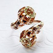 Украшения handmade. Livemaster - original item Ring Ding Dong - Topaz, gold 585. Handmade.