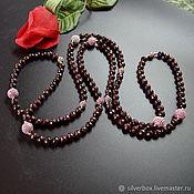 Украшения handmade. Livemaster - original item Garnet beads Natural stones Author`s work. Handmade.
