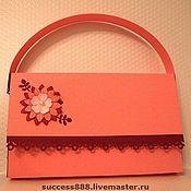 Открытки ручной работы. Ярмарка Мастеров - ручная работа Оригинальная упаковка - открытка-сумочка для девочки или девушки. Handmade.