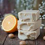 """Мыло ручной работы. Ярмарка Мастеров - ручная работа Мыло """"Апельсиновый щербет"""" натуральное с нуля. Handmade."""