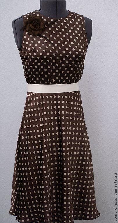 """Платья ручной работы. Ярмарка Мастеров - ручная работа. Купить Платье """"Pretty Woman"""". Handmade. В горошек, коричневый, платье"""