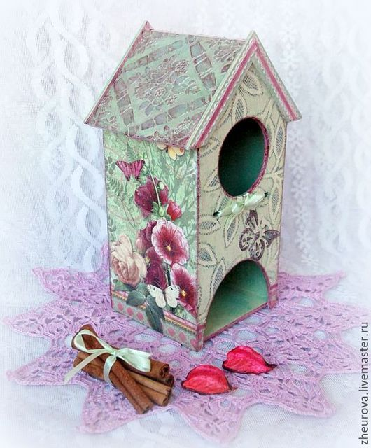 """Кухня ручной работы. Ярмарка Мастеров - ручная работа. Купить Чайный домик """"Цветочный"""". Handmade. Салатовый, цветы, подарок на свадьбу"""