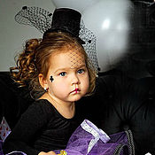 """Аксессуары ручной работы. Ярмарка Мастеров - ручная работа Шляпка-цилиндр """"Алиса в стране чудес"""". Handmade."""