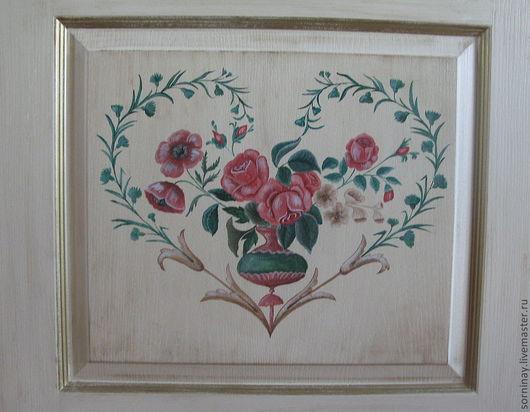 """Элементы интерьера ручной работы. Ярмарка Мастеров - ручная работа. Купить Дверь  """"сердечко"""". Handmade. Дверь, цветы, розы, спальня"""