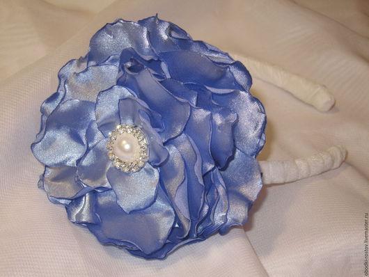Диадемы, обручи ручной работы. Ярмарка Мастеров - ручная работа. Купить Ободок с цветком. Handmade. Голубой, ободок с цветами