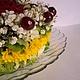 """Букеты ручной работы. Заказать Торт из живых цветов, ягод и конфет """"Солнечное утро"""". Светлана Смехова (Sweetbyket). Ярмарка Мастеров."""