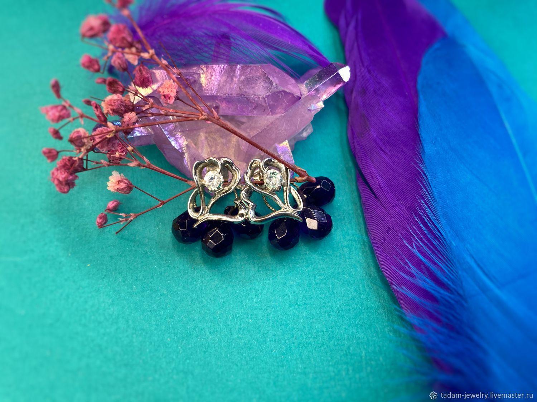Amethyst Earrings With love, Earrings, Moscow,  Фото №1