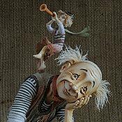"""Куклы и игрушки ручной работы. Ярмарка Мастеров - ручная работа """"Мечтатель (Клоун и его муза)"""". Handmade."""