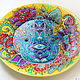 Decorative plate 'Hamsa' hand painted. Plates. Art by Tanya Shest. My Livemaster. Фото №4