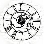 Большие настенные часы, кованые