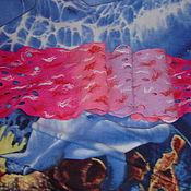 Аксессуары ручной работы. Ярмарка Мастеров - ручная работа Шарф валяный Сиреневый водопад. Handmade.