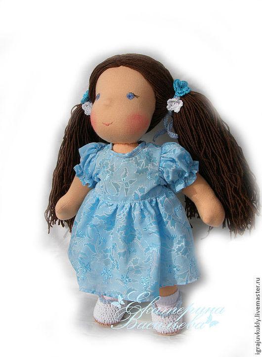 Вальдорфская игрушка ручной работы. Ярмарка Мастеров - ручная работа. Купить Вальдорфская кукла. Handmade. Бирюзовый, игровая кукла, сливер